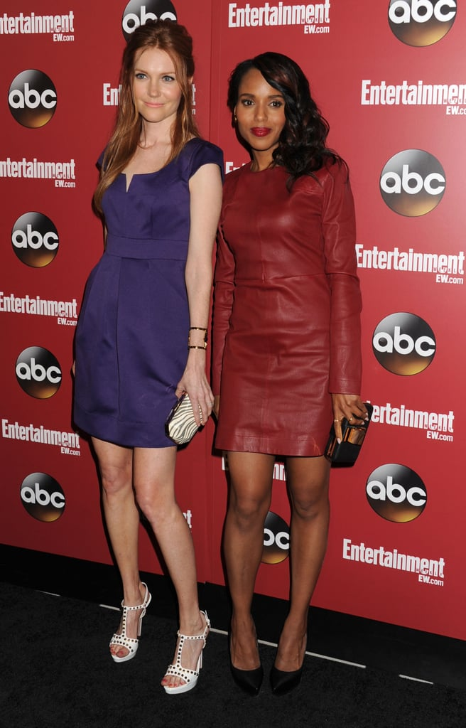 Kerry Washington posed with Scandal costar Darby Stanchfield.