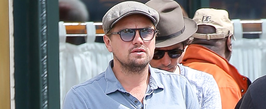 Leonardo DiCaprio Flashes His Abs and Checks Out Girls in Central Park
