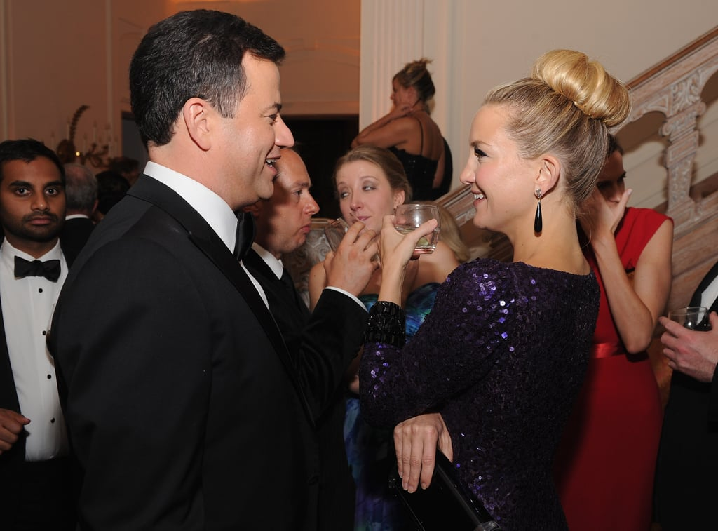 Kate Hudson chatted with Jimmy Kimmel.