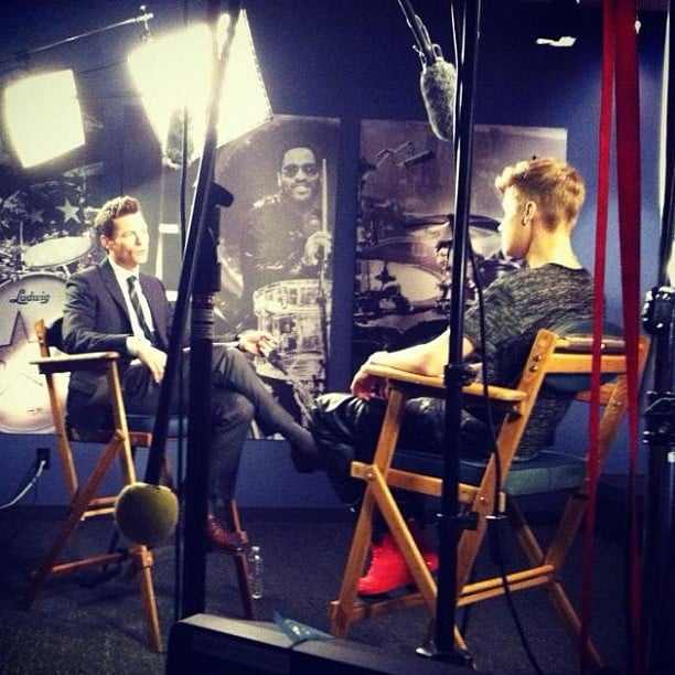 Ryan Seacrest sat with Justin Bieber for a chat. Source: Instagram user todayshow