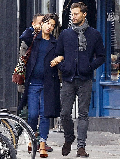 Jamie Dornan and Wife Amelia Cuddle Up During a Matching London Stroll
