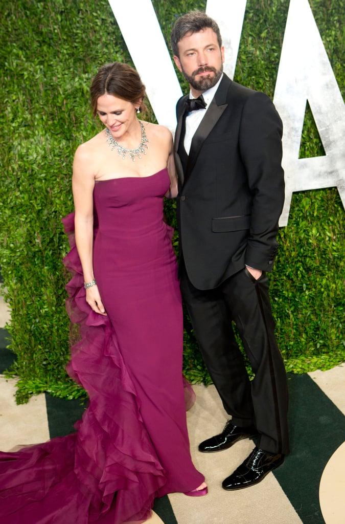 Ben Affleck and Jennifer Garner arrived at the Vanity Fair Oscar party.