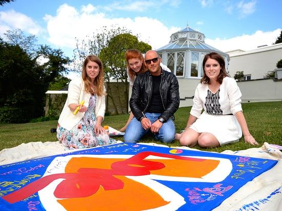 Princess Power! Beatrice and Eugenie (and Mom Sarah Ferguson!) Lend 'Royal Graffiti' to New Painting