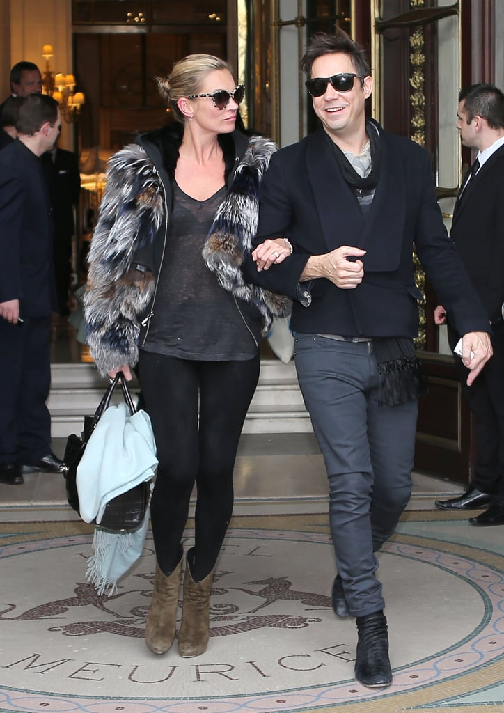 They left their Paris hotel arm in arm after wrapping up Fall fashion week in March 2013.