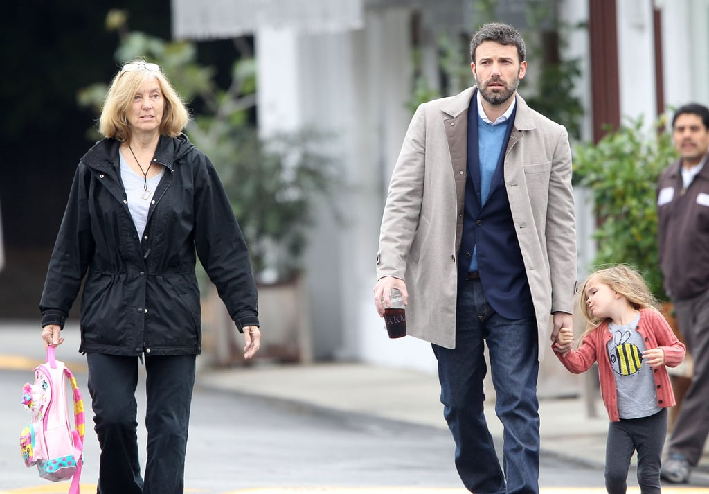 Ben Affleck had the help of his mom Chris to take Seraphina to breakfast.