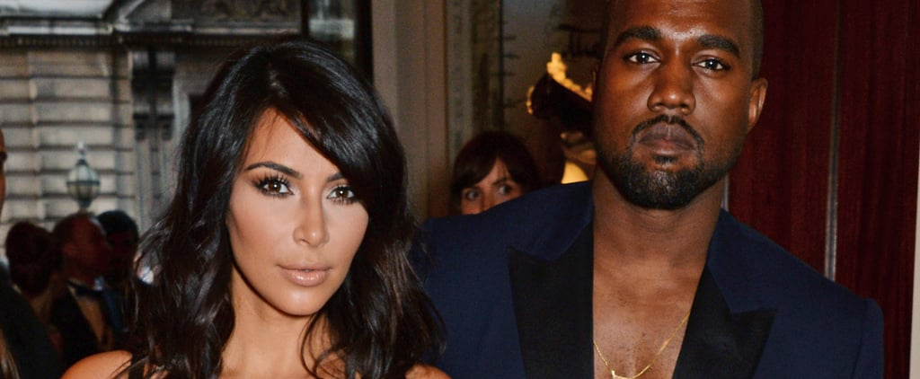 When It Comes to Posing on the Red Carpet, Kanye Literally Has Kim's Back