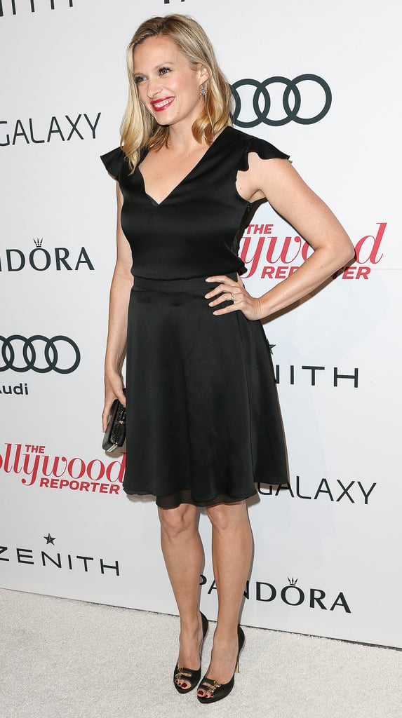 Vanessa Shaw wore a black dress to the event.