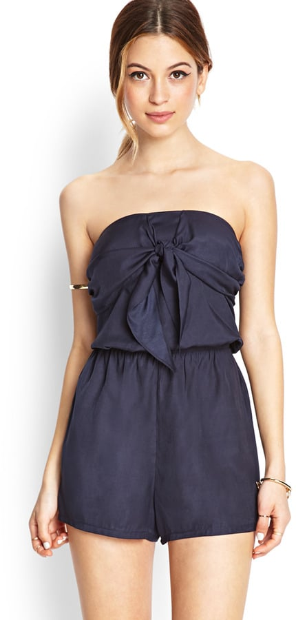 Forever 21 Knot Front Romper