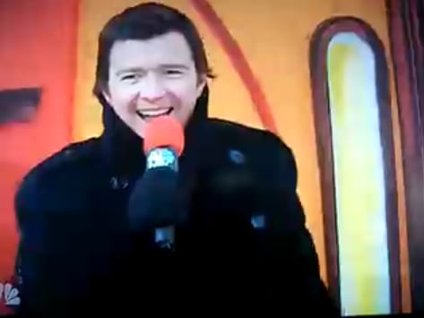 Rick Astley Gives Us a Turkey Day to Remember
