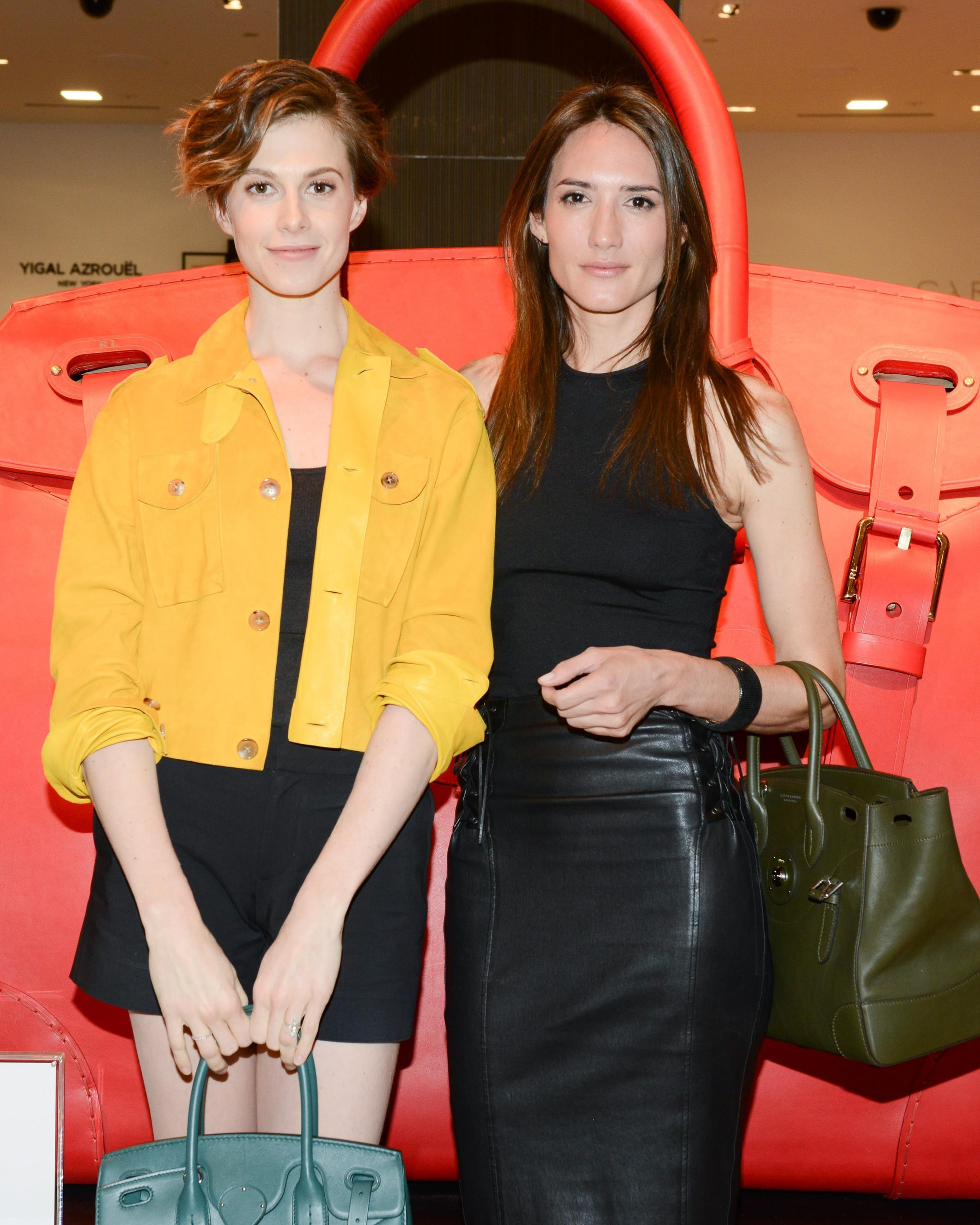 Elettra Wiedemann and Zani Gugelmann helped celebrate the colorful world of Ralph Lauren's Ricky Bag at Saks.
