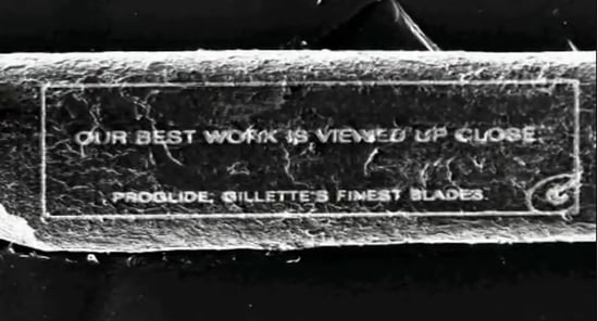 Gillette Uses an Electron Microscope to Write an Ad on a Single Human Hair 2011-06-13 10:21:32