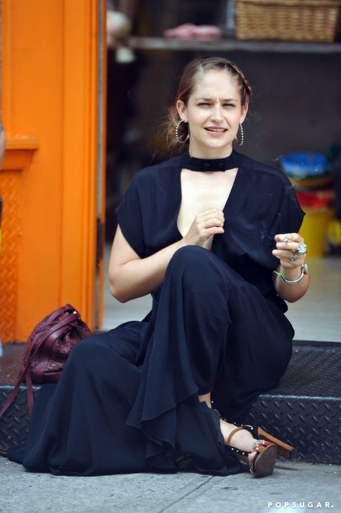 Jemima Kirke was on the set of Girls in NYC on Sunday.