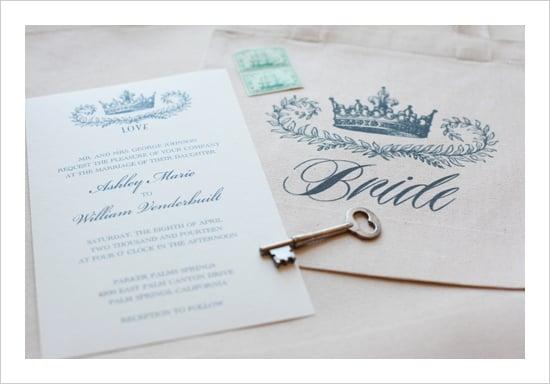 Crown Wedding Invitation