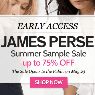James Perse Summer Sample Sale