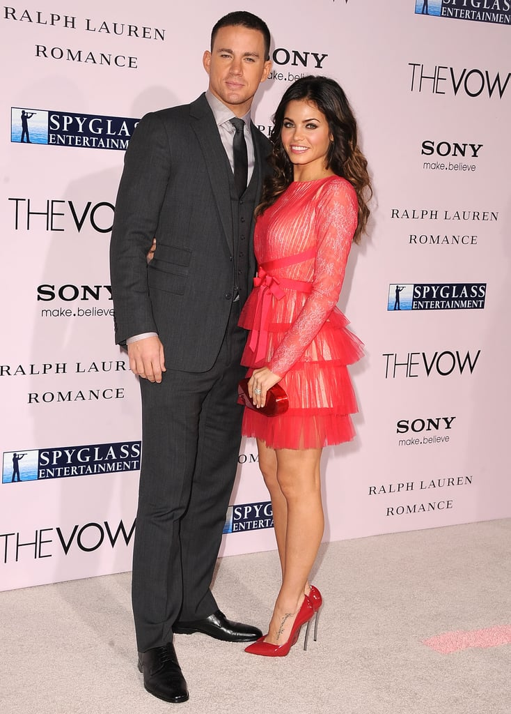 Jenna Dewan and Channing Tatum at The Vow premiere in LA.