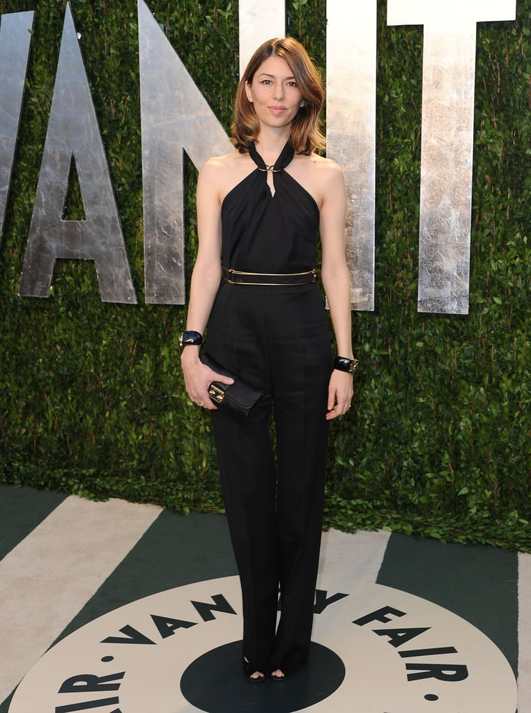 Sofia Coppola proved that the jumpsuit is just as Oscar-worthy as a dress in an ultraelegant halter-neck stye cinched at the waist for Vanity Fair's fete.