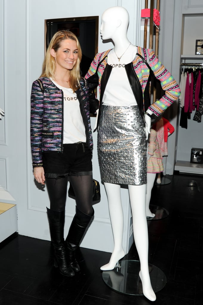 Amanda Hearst at the Milly for Friends of Finn t-shirt collection launch.