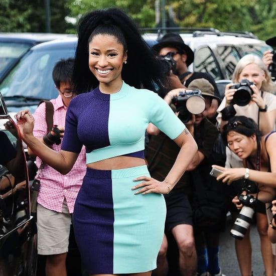 Nicki Minaj Teaches Models to Dance at Alexander Wang