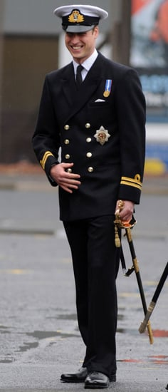 Pictures of Prince William in Uniform at Submarine Presentation in Scotland