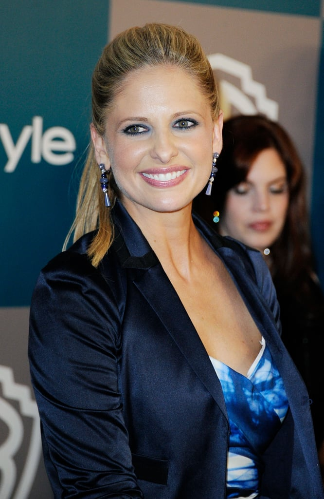 Sarah Michelle Gellar hit InStyle's Golden Globes afterparty in her Monique Lhuillier dress.