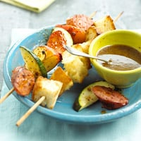 Fast & Easy Dinner: Sausage-Fruit Kabobs