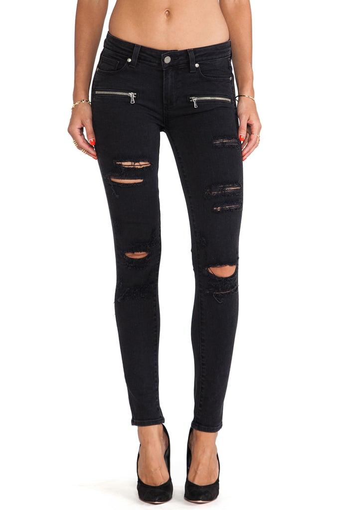 Paige Denim Indio Zip Skinny Jeans