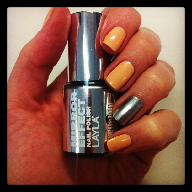 Alison got futuristic with Layla Mirror Effect Nail Polish, and we likey.