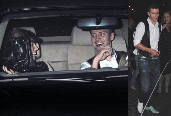 Justin Timberlake and Girlfriend Jessica Biel Leaving Cut in LA