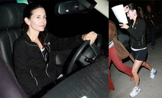 Courteney Hides From the Cameras