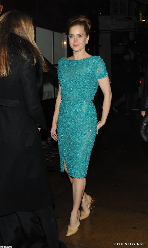 Amy Adams arrived at an afterparty in London.
