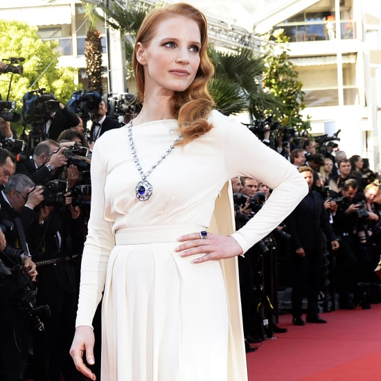 Jessica Chastain Wears Elizabeth Taylor Bulgari Necklace