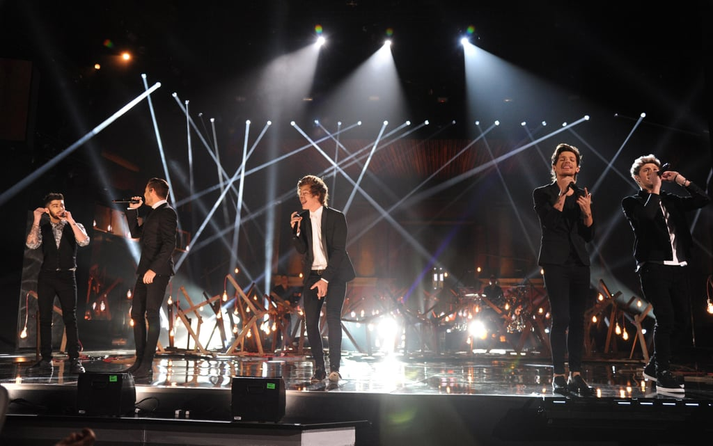 One Direction performed at the 2013 American Music Awards.