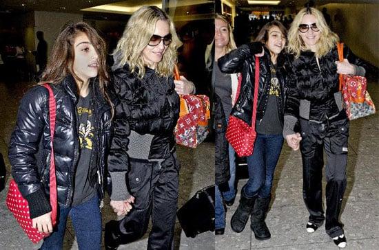 Madonna and Lourdes Leon at Heathrow