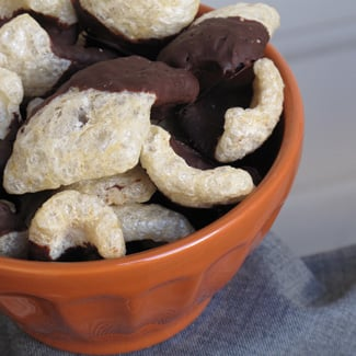 Recipe For Chocolate-Dipped Pork Rinds
