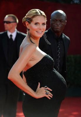 Pregnant Heidi Klum at Emmy Awards