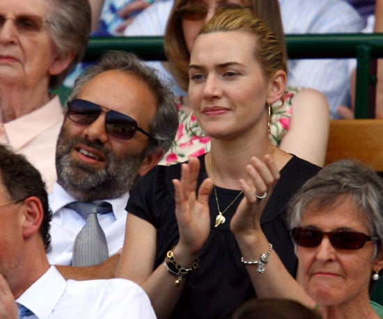 Photo Slide of Kate Winslet and Sam Mendes at Wimbledon