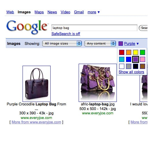 Google Search - With Color!