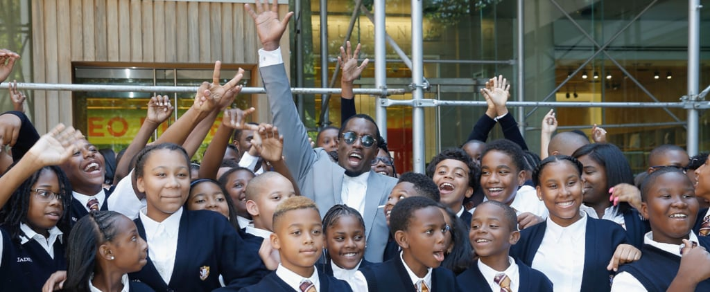 Diddy Gets Super Cute With Kids While Opening His New Charter School in Harlem