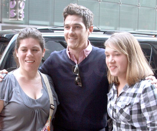 Slide Photo of Dave Annable Outside Good Morning America