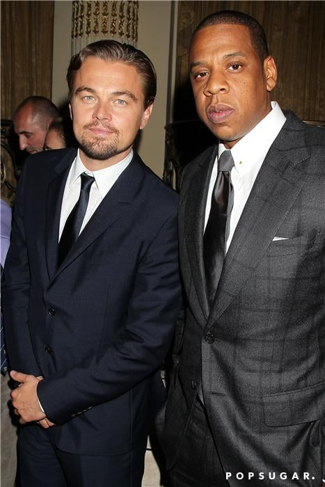 Leonardo DiCaprio and Jay-Z met up at the afterparty.