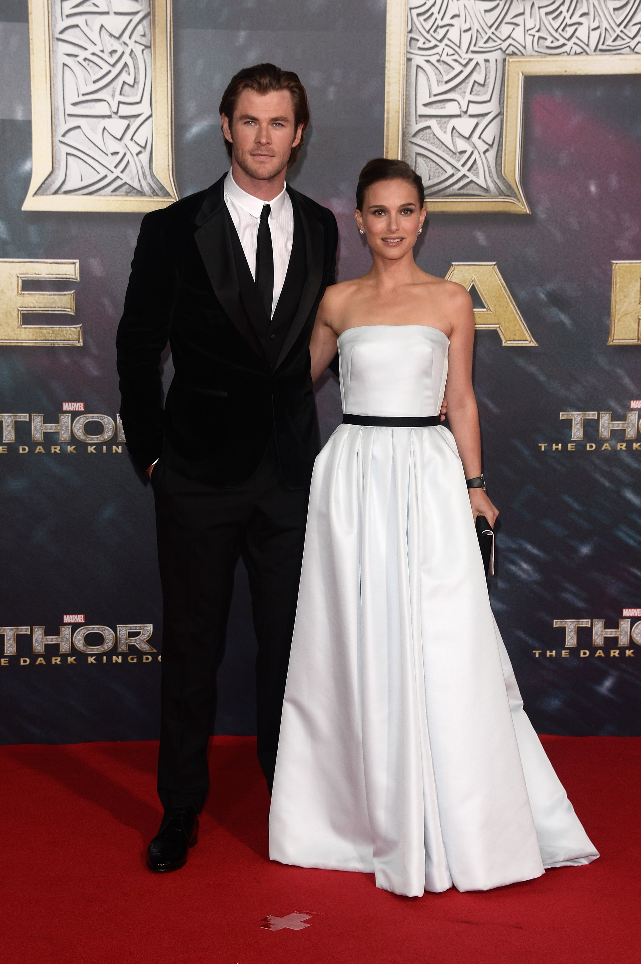 Natalie Portman and Chris Hemsworth attended the premiere for Thor: The Dark World.
