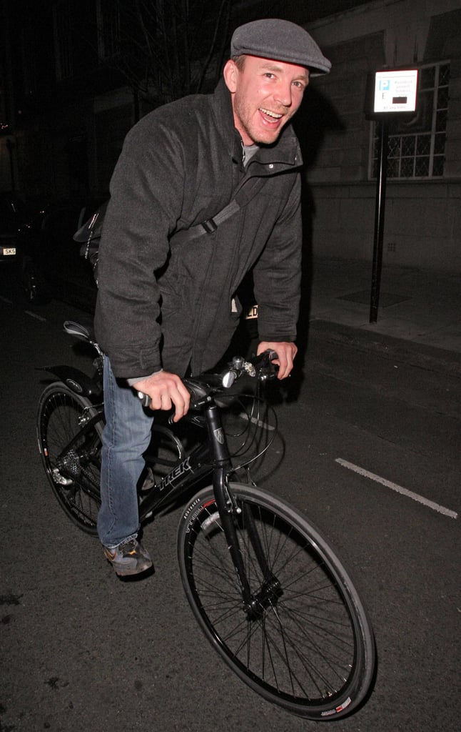 Guess who's riding his bike?