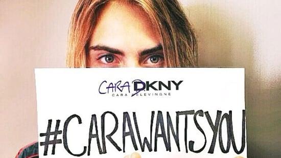 Cara Delevingne Designs a DKNY Collection