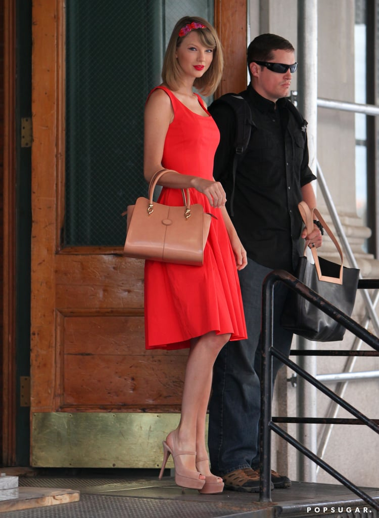 Taylor Swift was red hot in NYC on Monday.