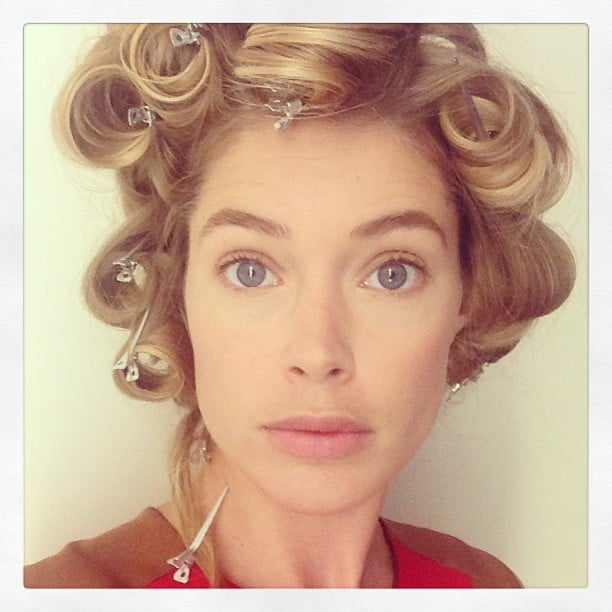 Doutzen Kroes passed the time while getting her hair done by snapping a selfie for her followers. Source: Instagram user doutzen