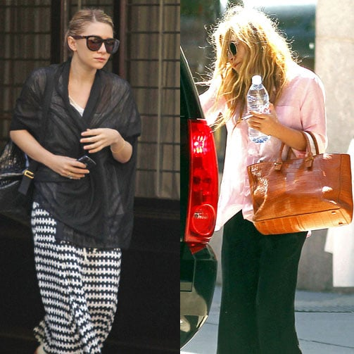 Mary-Kate Olsen and Ashley Olsen Out in NYC