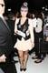 Kelly Osbourne rocked black leather, balanced with feminine nude, while on duty at Rebecca Minkoff.