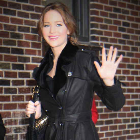 Jennifer Lawrence in Black at The Late Show | Video