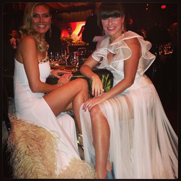 Heidi Klum and Sophia Bush celebrated at the Weinstein Company party in their white gowns. Source: Twitter user SophiaBush