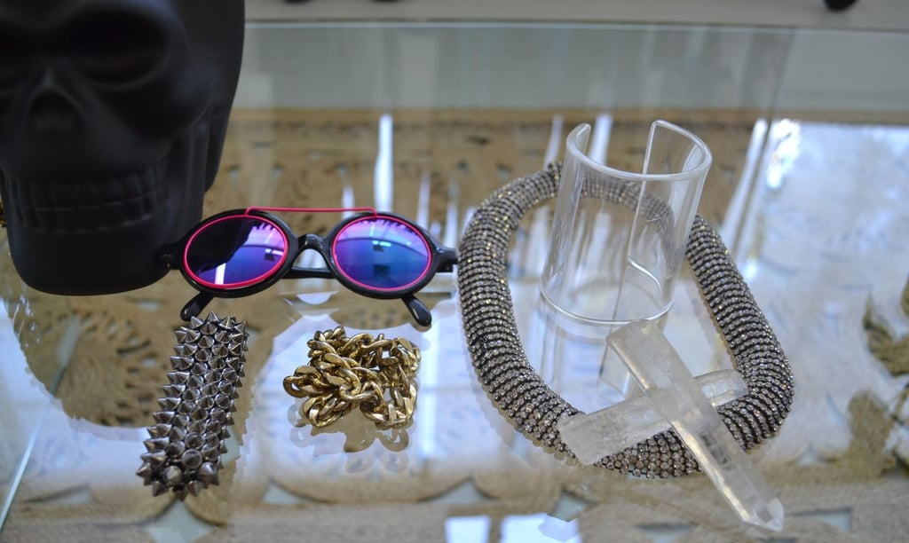 Some of my fav pieces of jewellery. I particularly love the blinged out necklace with the statement crystal centrepiece. Contrast at its finest.